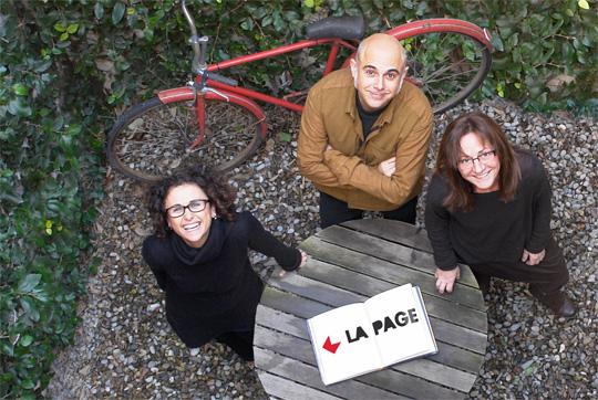 Sònia y Josep Martínez y Magda Escudero, el equipo de La Page