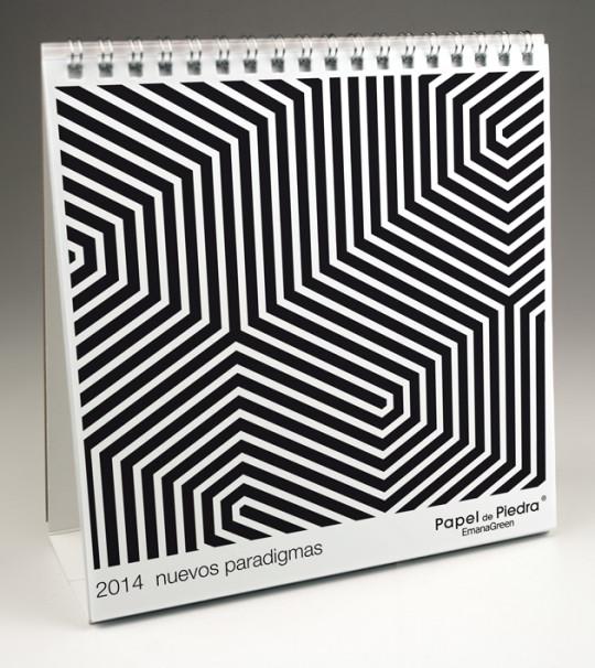 Calendari La Page eco responsable 2014 en paper de pedra